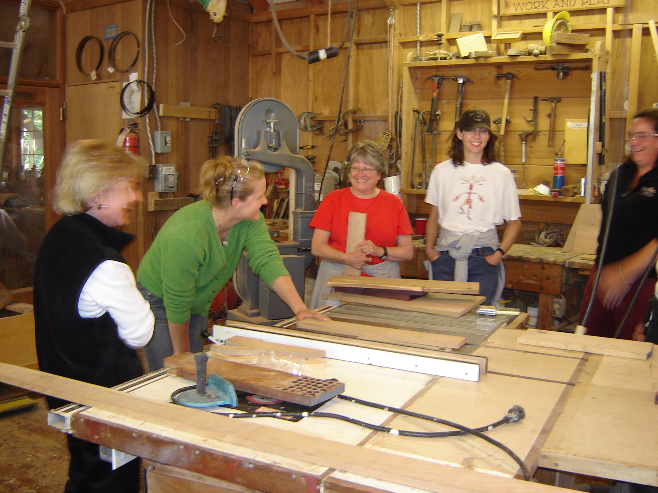 Women S Woodworking Classes At Cwb The Center For Wooden Boats