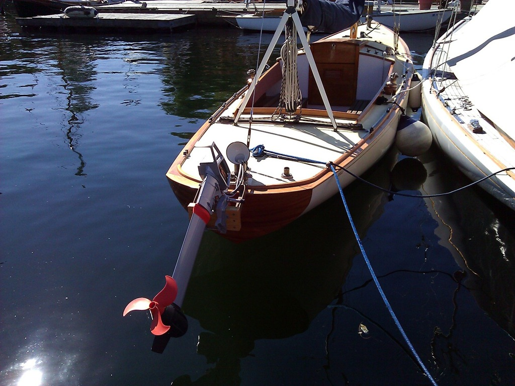 See the latest in green boat technology at the center for for Green boat and motor