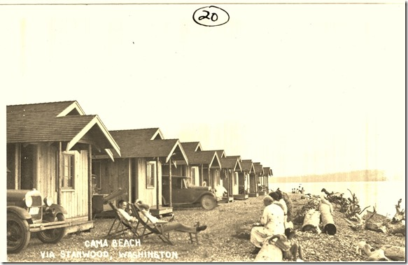 Cama Beach in the 30s, photo credit, Stanwood Camano Historical Society