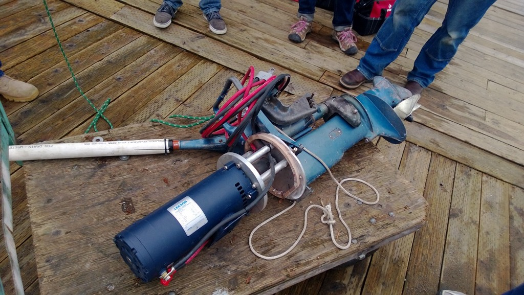Cwb volunteers test electric motor they created on for How to test an electric motor