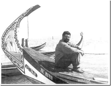 Monk Award winner Helder Parreira aboard traditional Portuguese boat